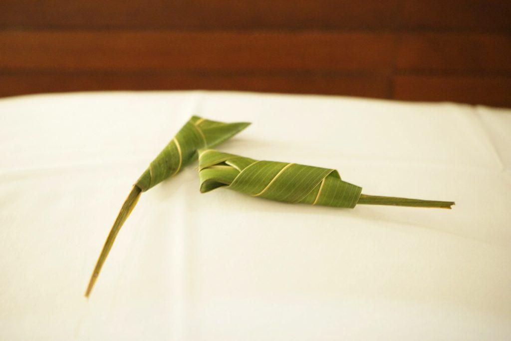 カオラック旅行記:サロジン(The sarojin)ベッドメイキングのアイテム