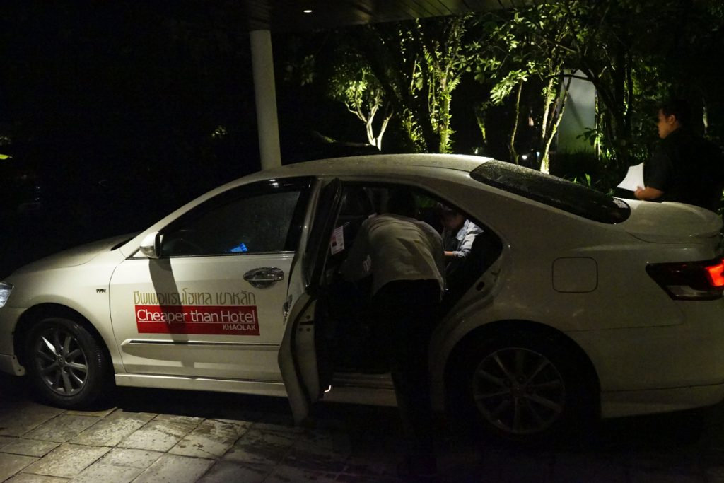 カオラック旅行記:サロジンホテル(The sarojin)へ迎えに来たタクシー