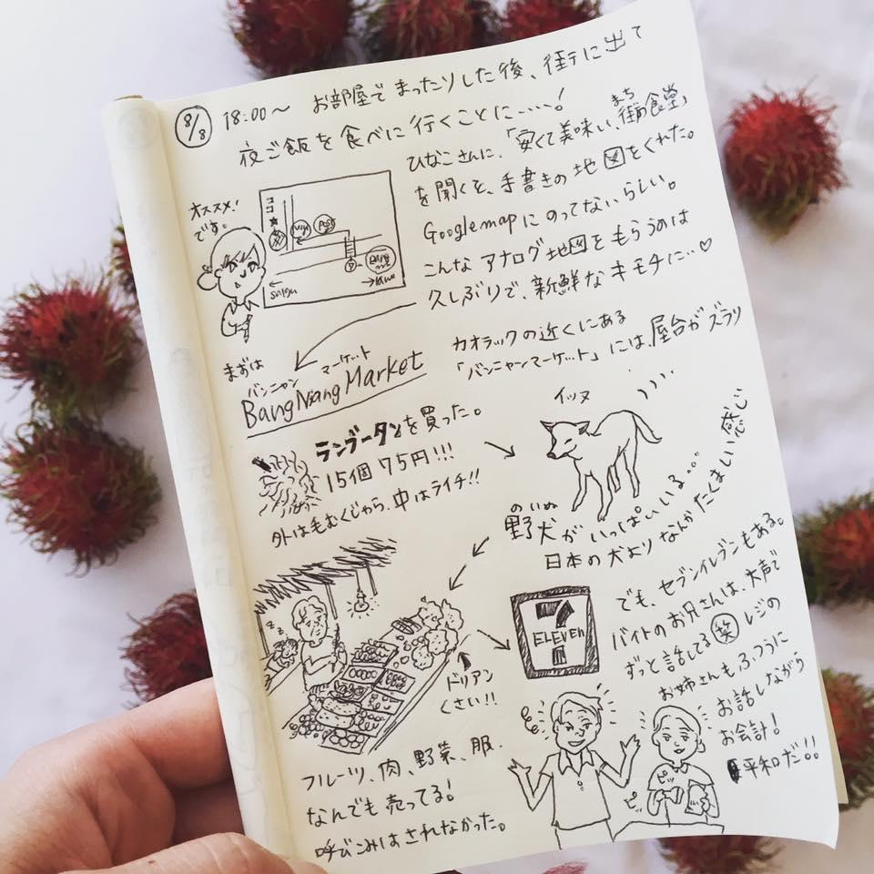 カオラック新婚旅行_:絵日記_momucofu_007