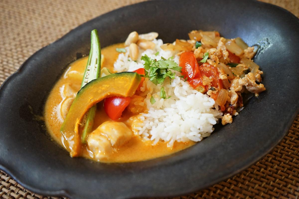 てとてと食堂:メニュー:マッサマンカレー&ガパオ