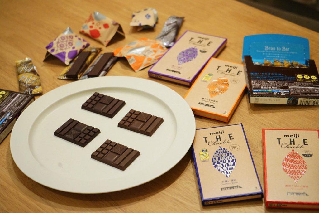 てとてと_チョコレート検定_新パッケージのザ・チョコレート_食べ比べ
